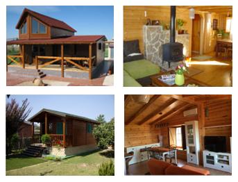 collage de casas de madera