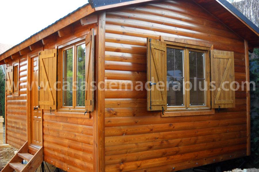 Casa de madera 32m madrid for Casas de madera madrid