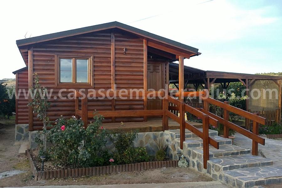 Casa de madera 42m valencia for Chimeneas prefabricadas